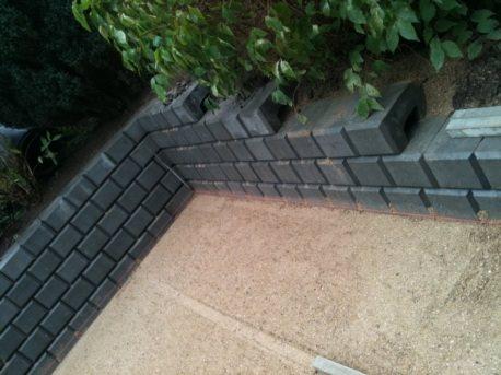 Danblok støttemur